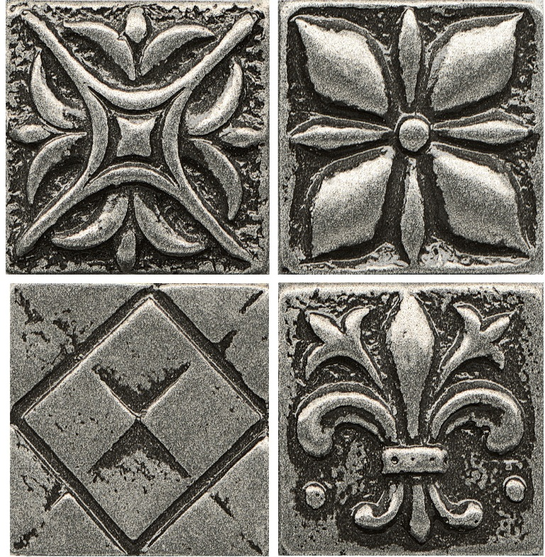 Free Shipping - Ambiance 4x4 Pewter Insert Collection