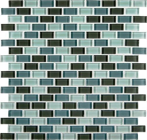 Majestic Ocean Mini Brick Pattern Crystallized