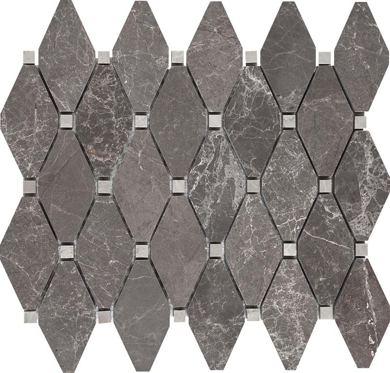 FREE SHIPPING - Angora Storm Elongated Harlequiin Polished Mosaic (While Stock Lasts)