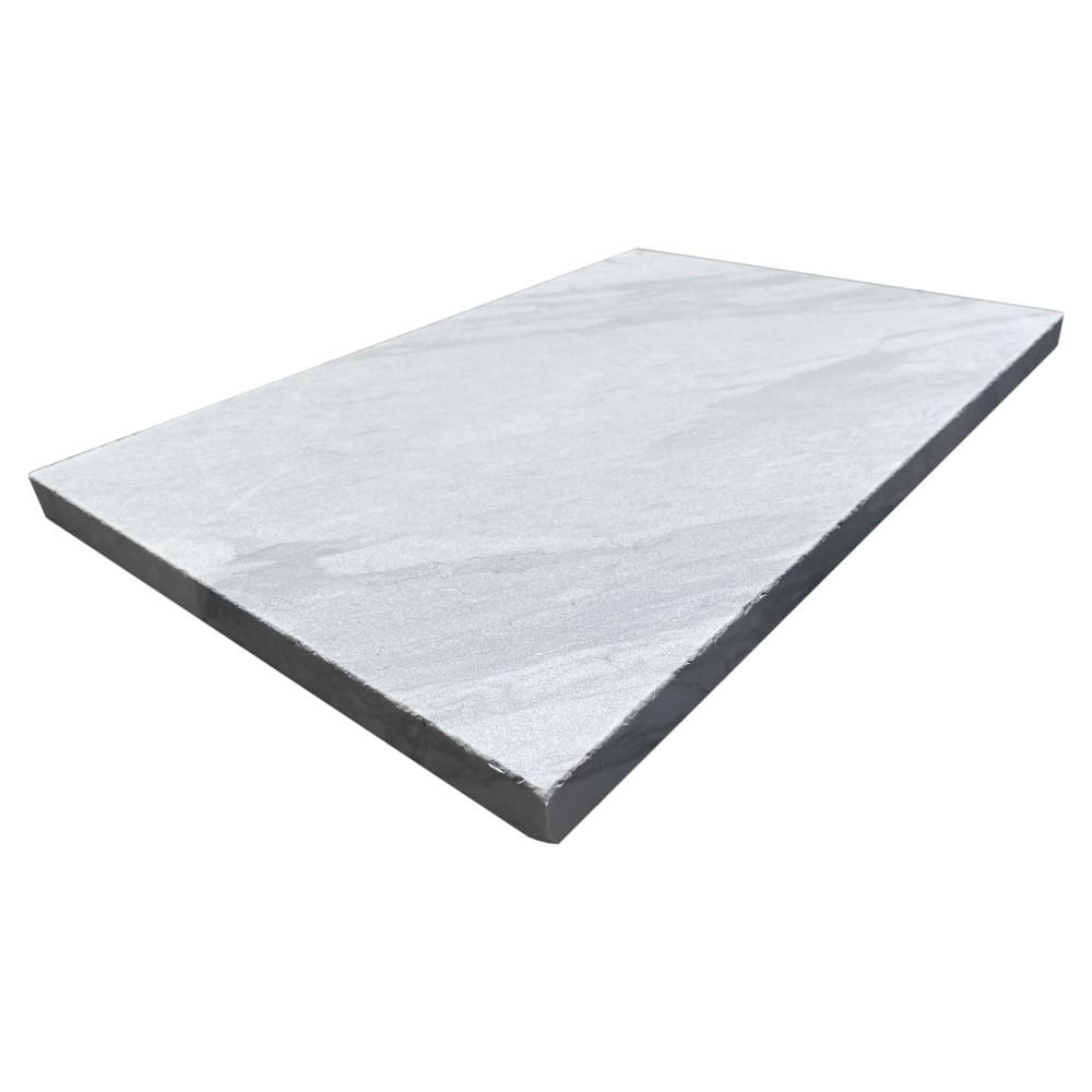 Croix White 16X24 3CM Marble Sandblasted Paver