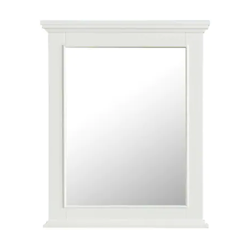 FREE SHIPPING - Manhattan Dove White 25x36 Bathroom Mirror