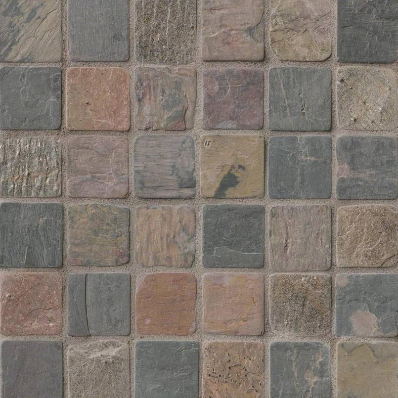 Mixed Slate 2x2 Mosaic Tumbled