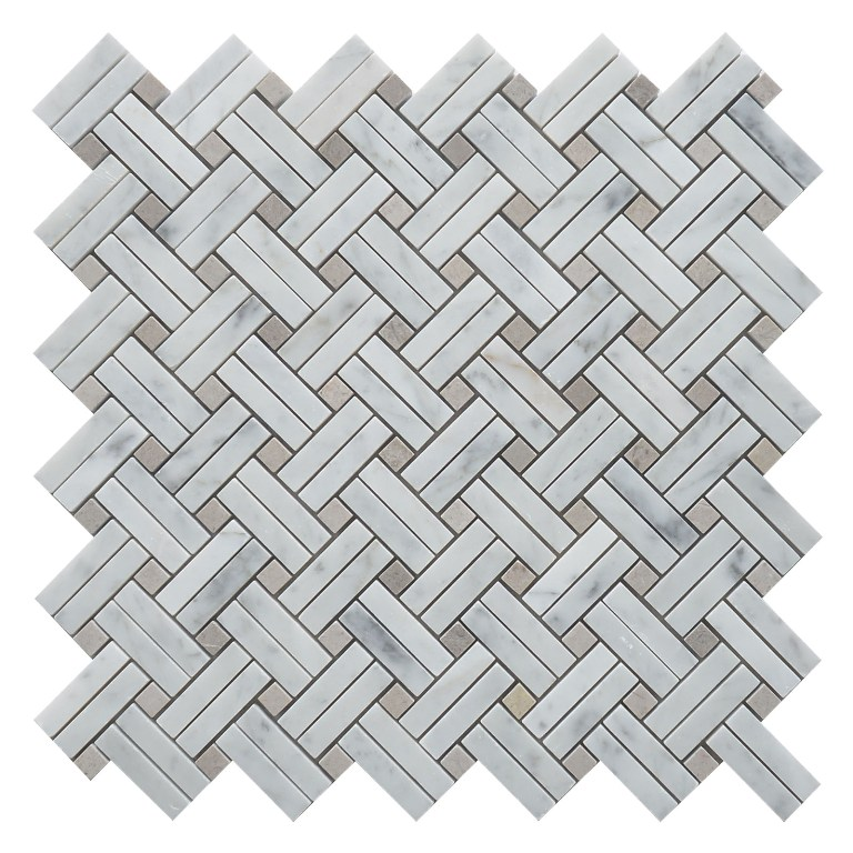 White Oak Knot 12x12 Polished Mosaic