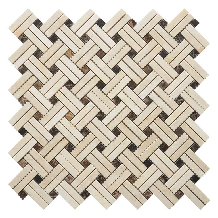 Crema Marfil Knot 12x12 Polished Mosaic