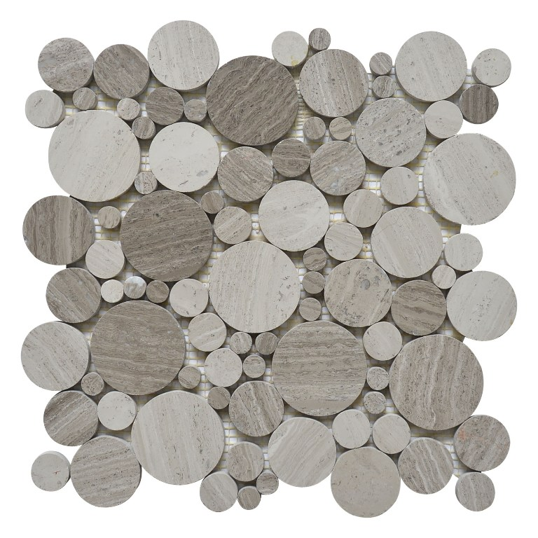 White Oak Serenity Penny Round Polished