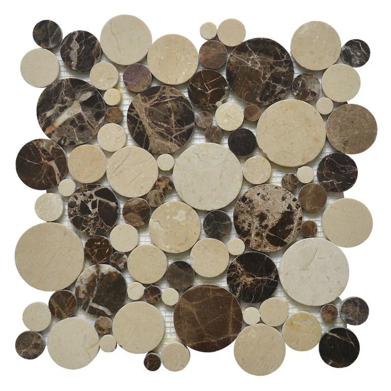 Crema Marfil Penny Round Polished