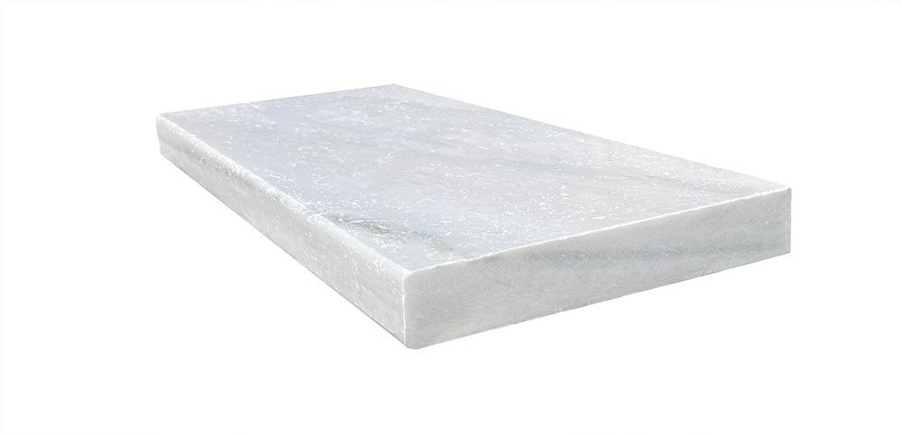 Hydra White Marble 12x24 5CM Modern Edge Pool Coping