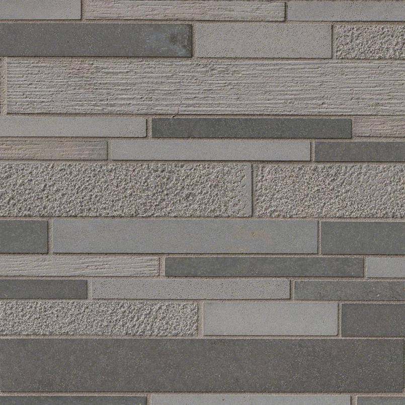 Mystic Gray Interlocking 12x12 Multi-Finish