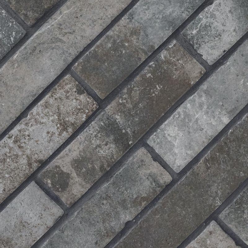 Capella Charcoal Brick 2x10 Porcelain