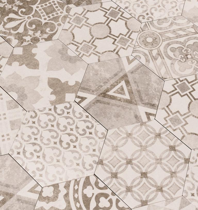 Kenzzi Mixana 7x8 Hexagon Mosaic