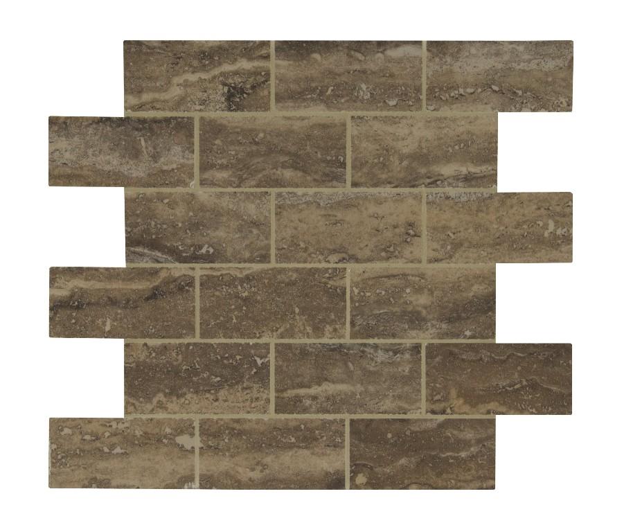 Pietra Venata Noce 2x4 Brick Polished