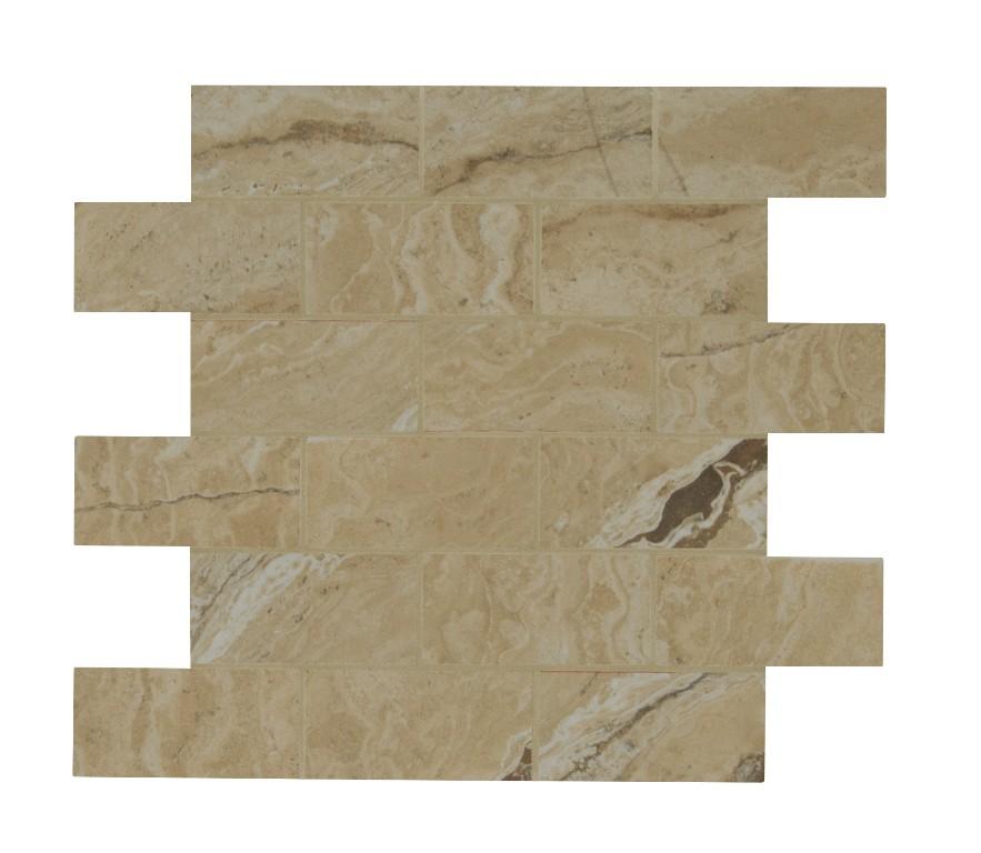 Pietra Vezio Beige 2x4 Brick Polished