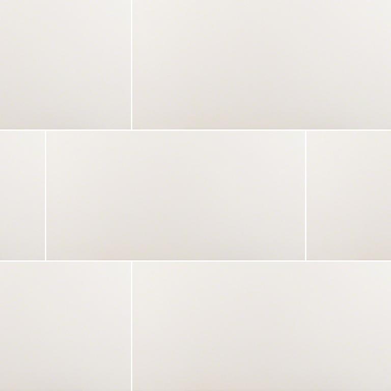 Domino White 12x24 Matte Porcelain