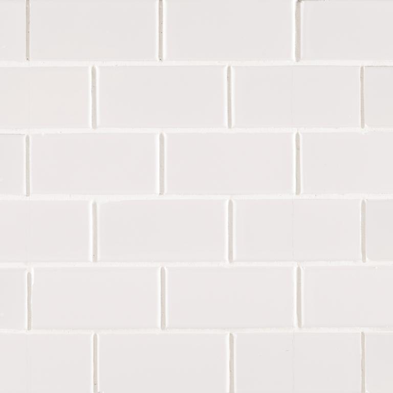 Domino White Glossy 2x4 Brick Mosaic
