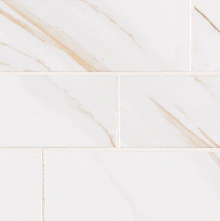 FREE SHIPPING Classique White Calacatta Glossy 4x16 Subway