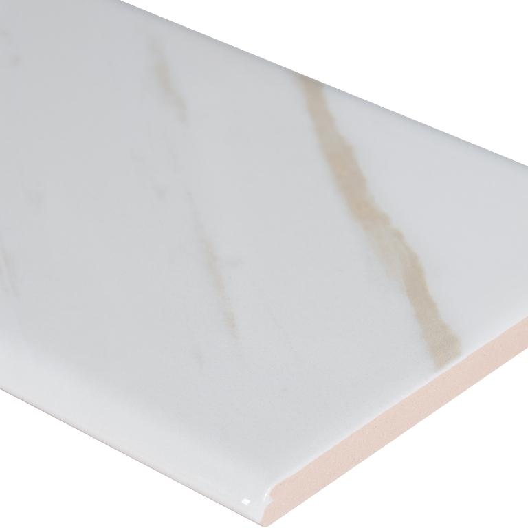 Classique White Calacatta 4x16 Bullnose
