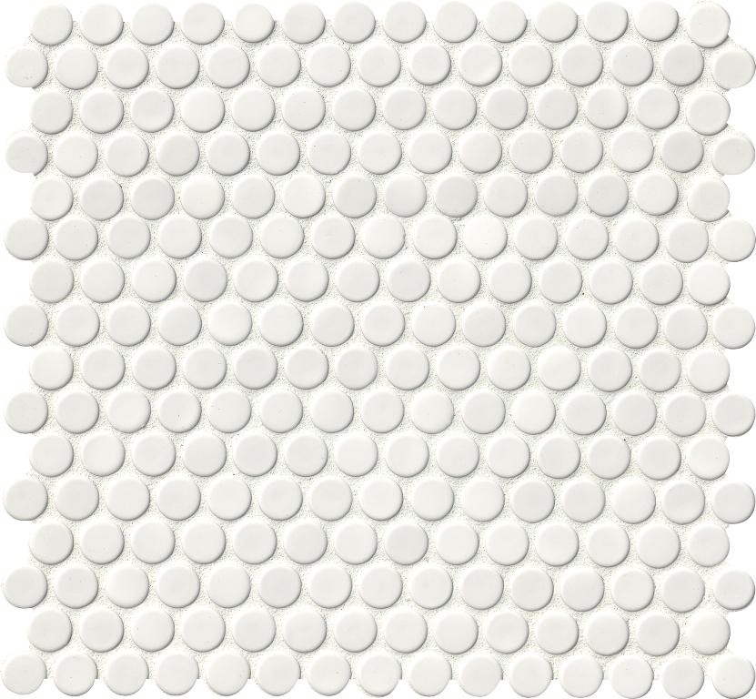 Domino White Penny Round Mosaic