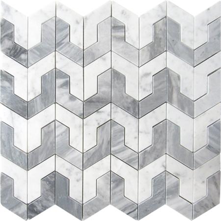 Carrara White Fiore Waterjet Pattern Polished