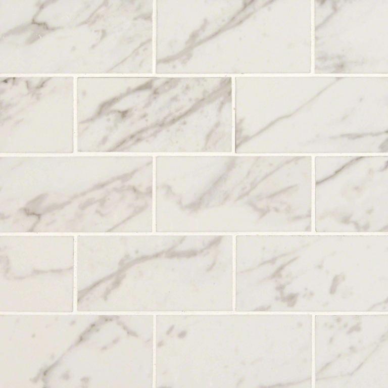Pietra Carrara 2x4 Polished Brick