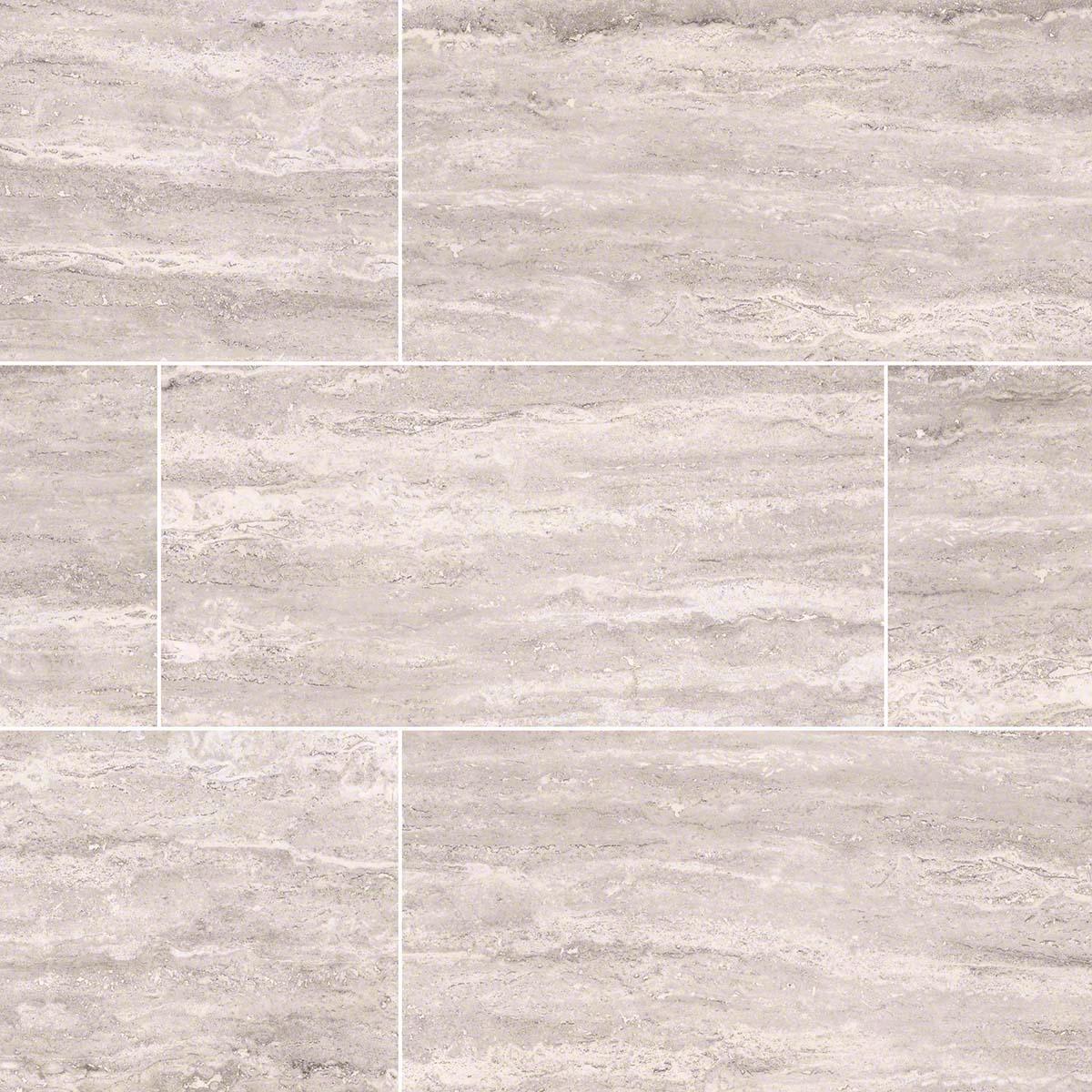 Pietra Venata White 2x4 Brick Polished