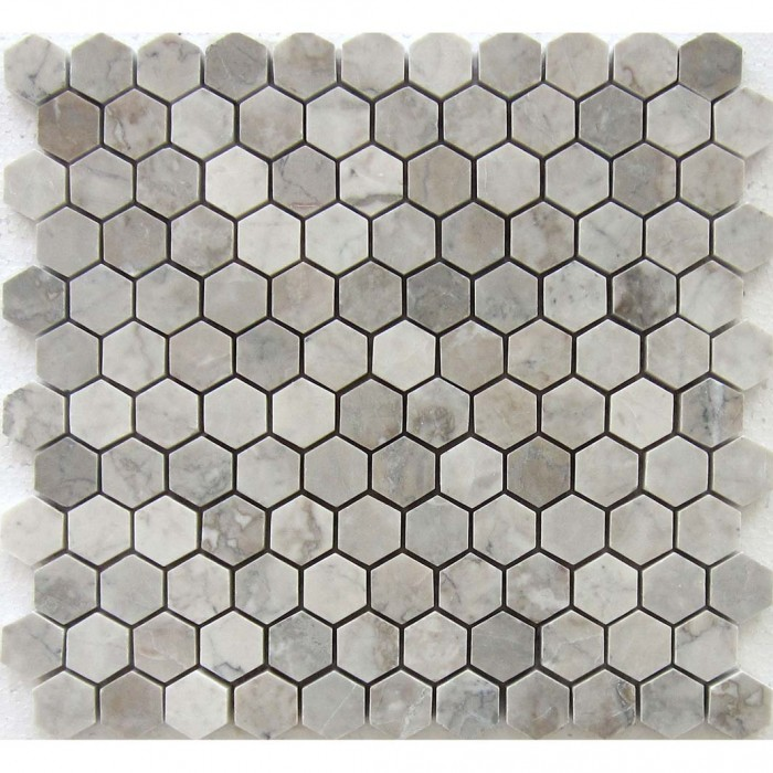 Temple Grey 1x1 Hexagon Polished Mosaic