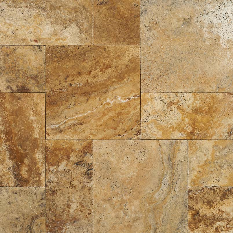 Tuscany Porcini 3CM French Pattern Travertine Pavers