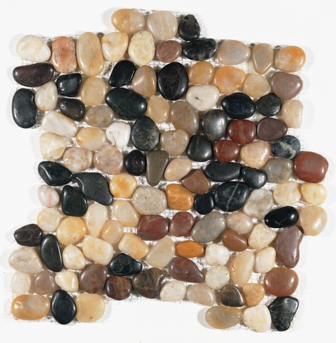 FREE SHIPPING - Sahara Interlocking 12x12 Polished Pebbles