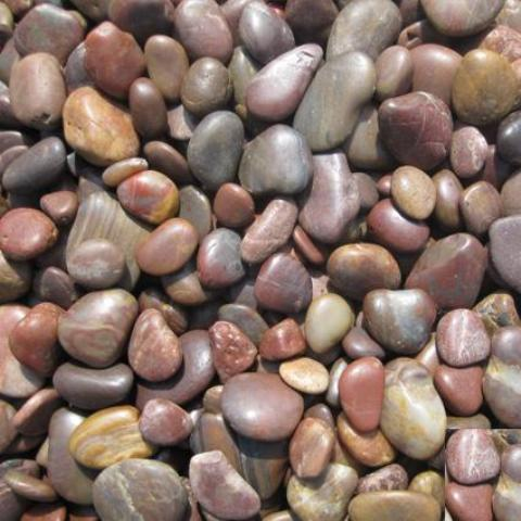 3-5 cm Red Beach Pebbles Random Polished