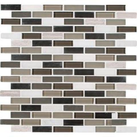 FREE SHIPPING - Silver Tip Pattern Glass/Stone/Metal Blend Mosaic