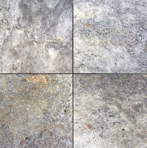 Silver Travertine 12x12 3cm Travertine Paver