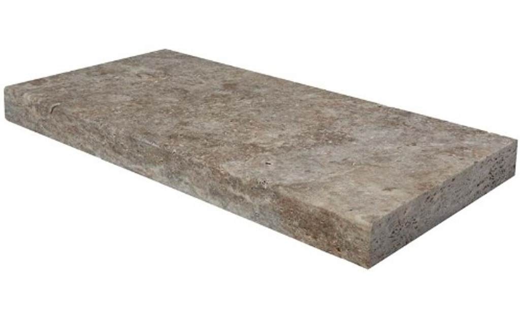 Silver Travertine 12x24 3cm Paver/Pool Coping
