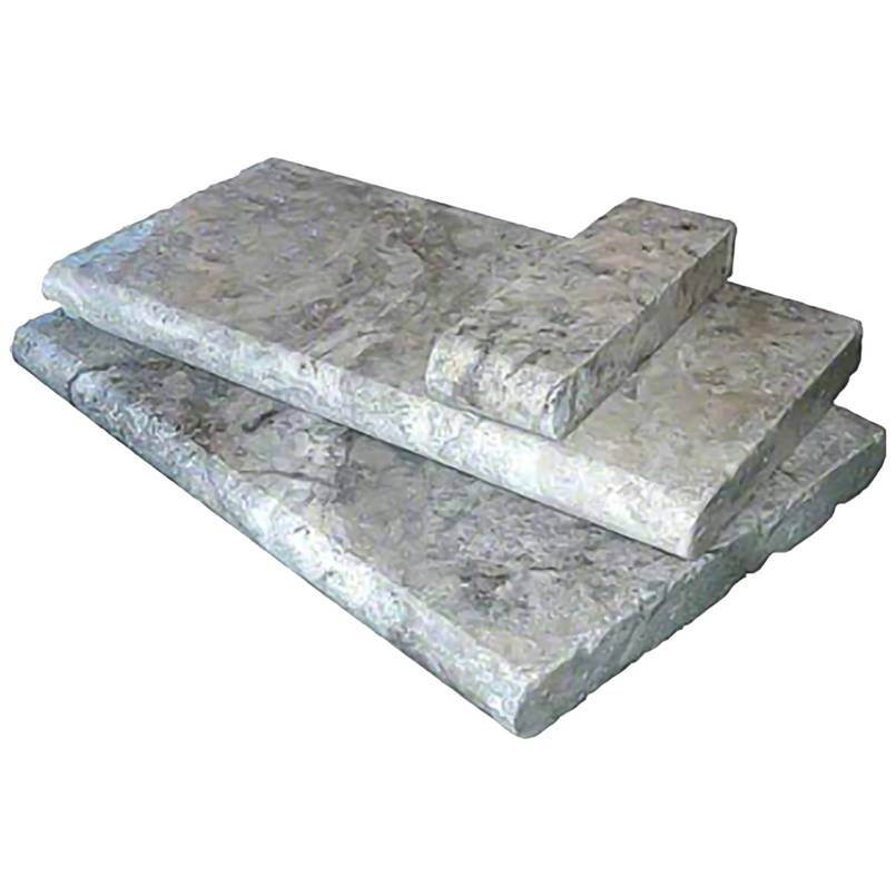 Silver Travertine 12X24 5CM Pool Coping