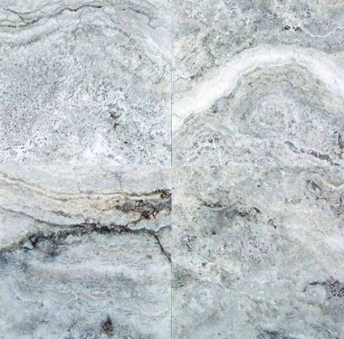 Silver Travertine 18X18 Honed/Filled