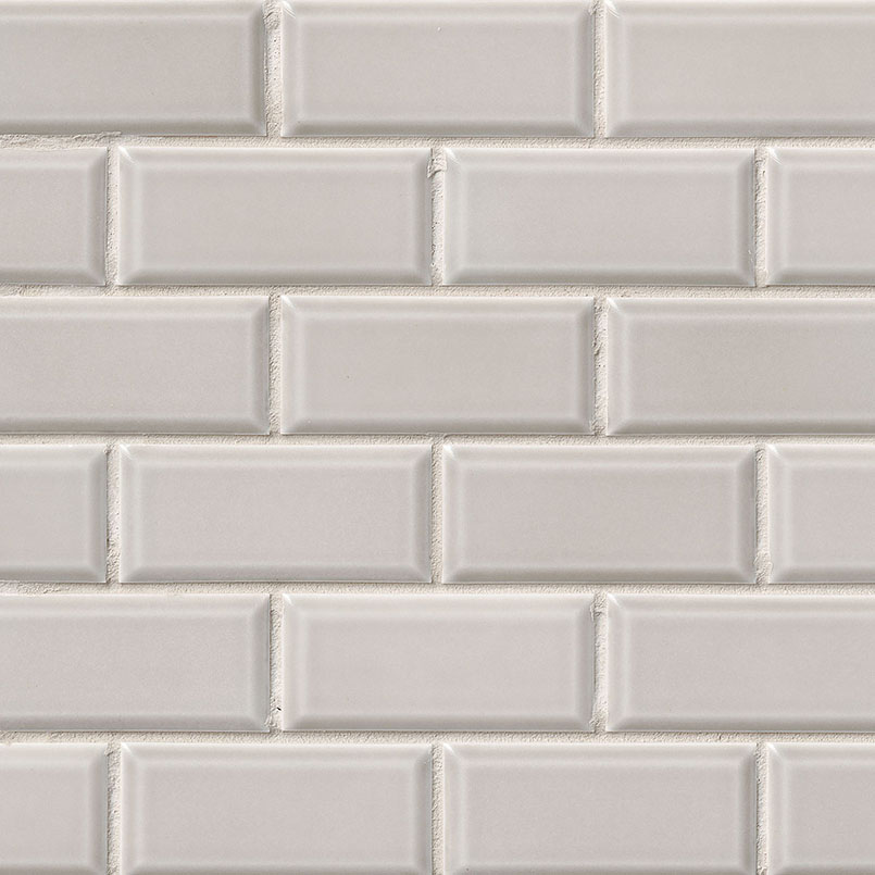 Smoke Beveled 2x4 Subway Tile