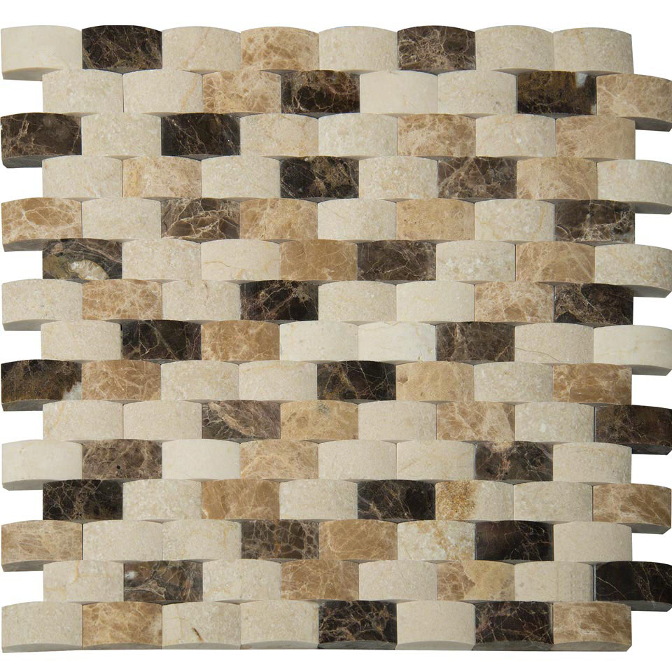 FREE SHIPPING - Blend Arched Brick 12X12 Mosaic