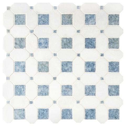 Azula Hatchwork Polished Marble Mosaic