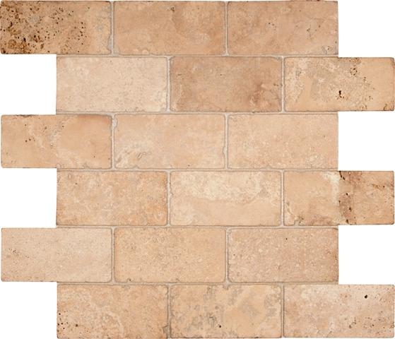 Durango Brick 12X12 Tumbled Mosaic