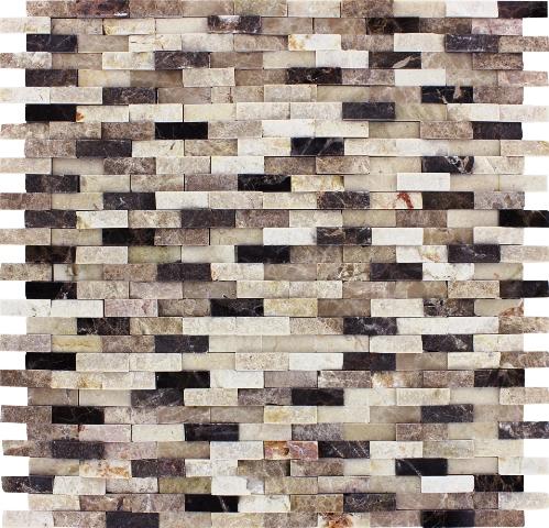 Emperador Blend Pattern Split face Interlocking Mosaic