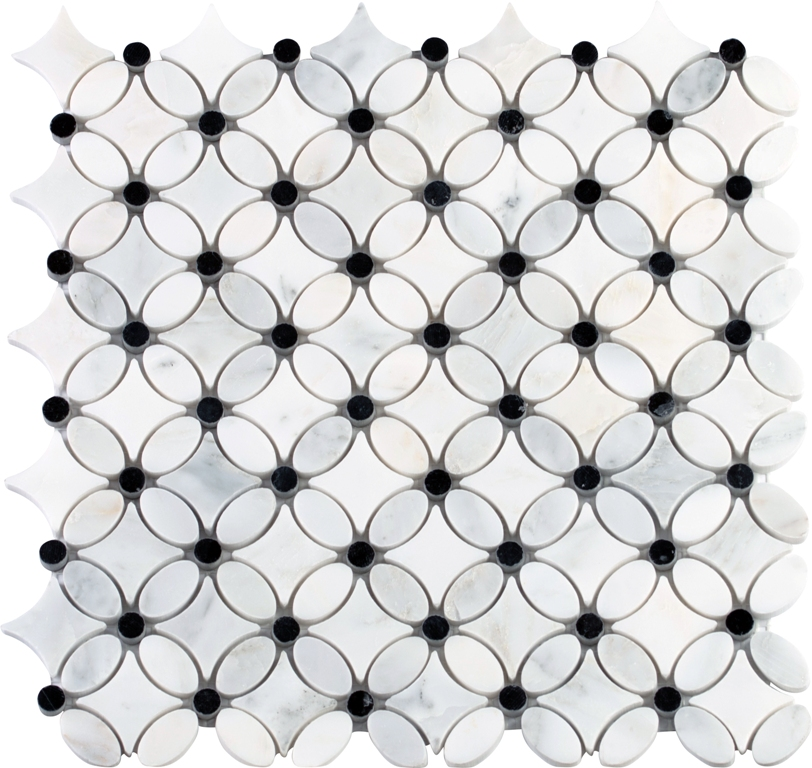 Carrara Florita Pattern Polished Mosaic
