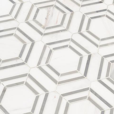 Georama Grigio Polished Marble Mosaic