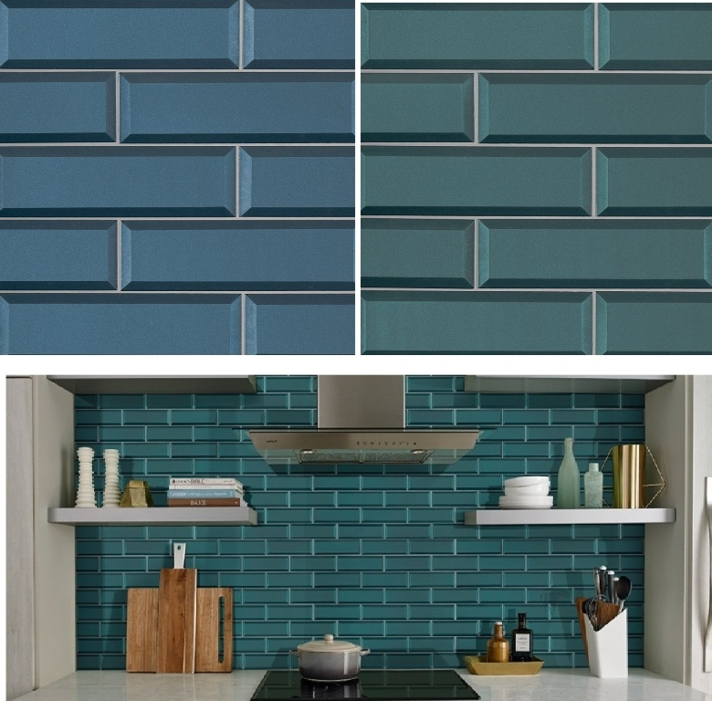 Tahiti Beveled Glass Subway Tile Collection