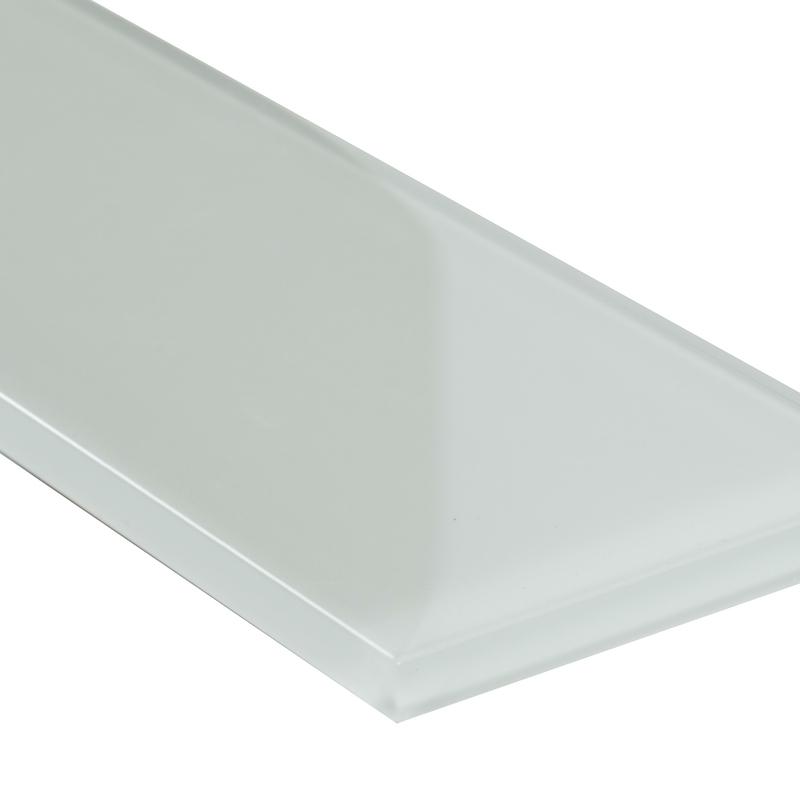 FREE SHIPPING - Snowcap White 3x6 Glass Subway Tile