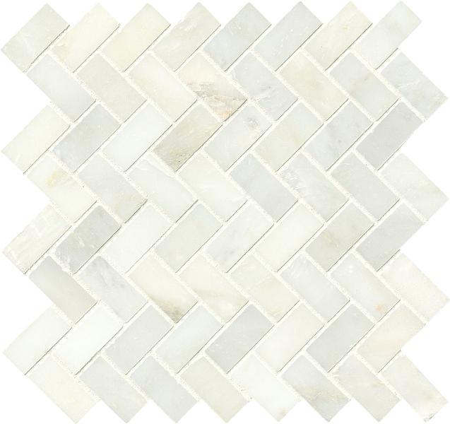 Greecian White 1x2 Herringbone Polished Pattern