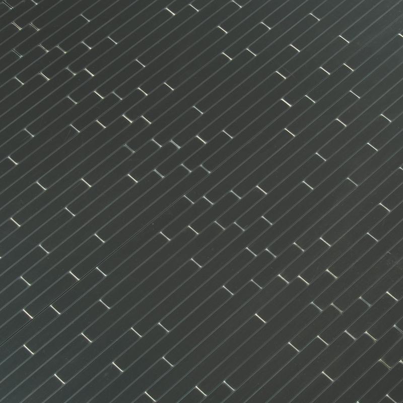 Silverina Peel & Stick Metal Interlocking Tile