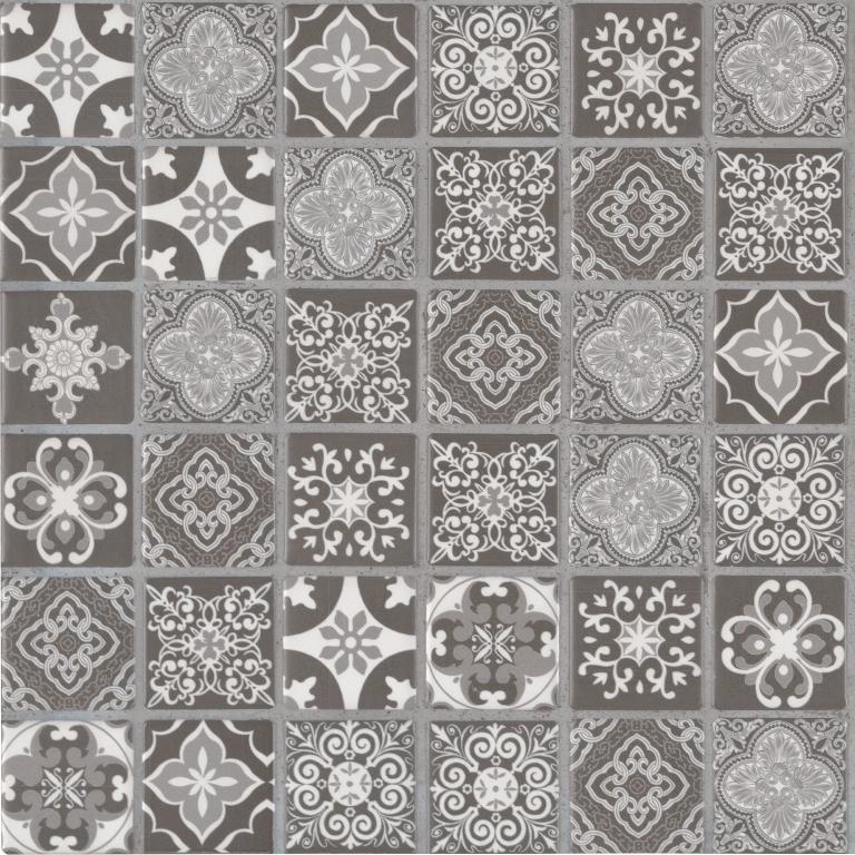 Anya Charcoal 2x2 Printed Tiles