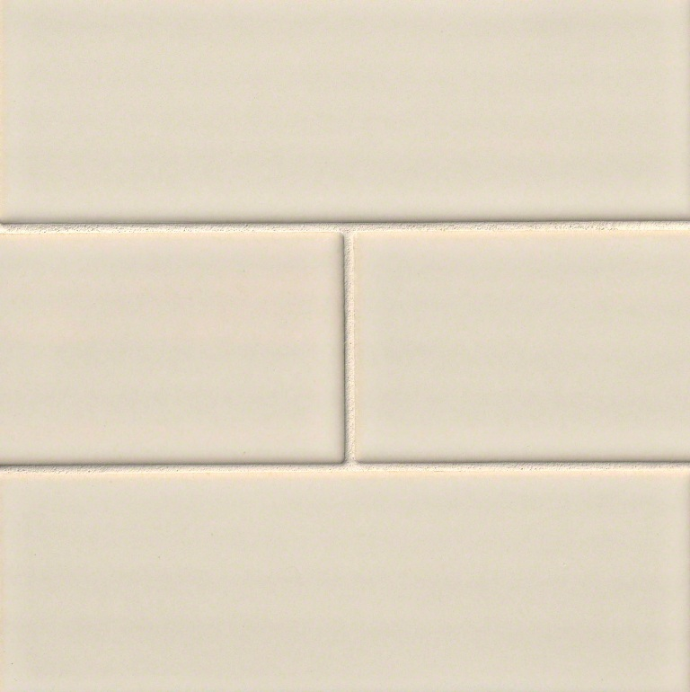 FREE SHIPPING Antique White 4x12 Glazed Handcrafted Subway Tile