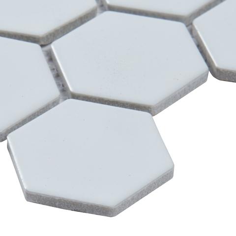 FREE SHIPPING - Retro Hexo Bianco Glossy 2x2 Mosaic