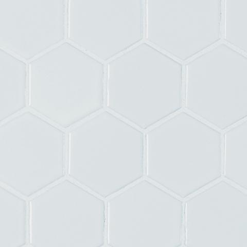 Retro Hexo Bianco Matte 2x2 Mosaic