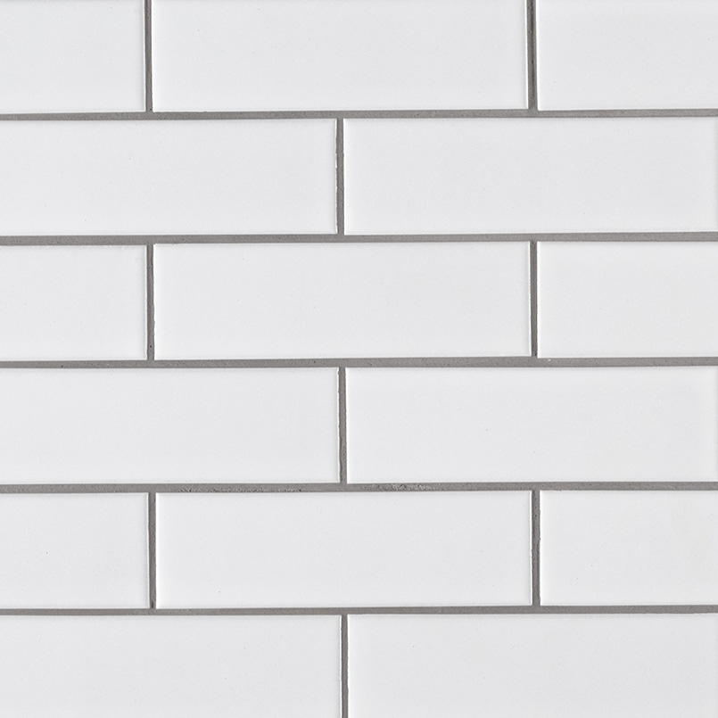 Retro Brick Bianco 2X6 Mosaic