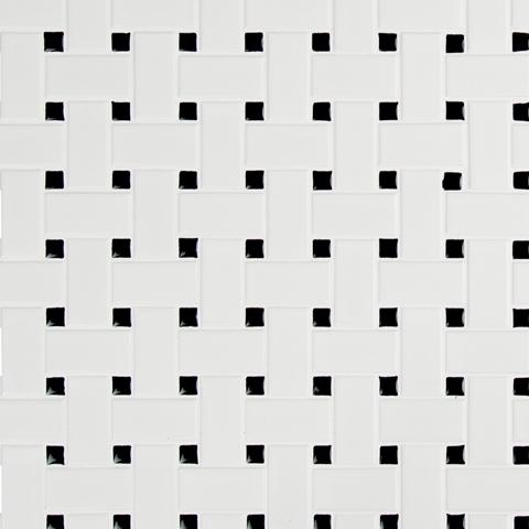 Retro Bianco Matte Basketweave Wall Tile